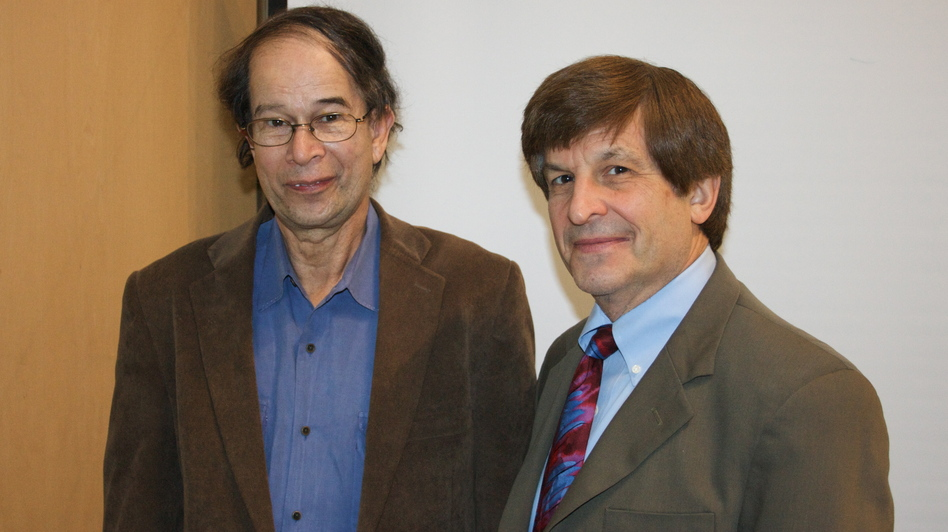 Richard Breitman (left) and Allan Lichtman are distinguished professors of history at American University in Washington, D.C.