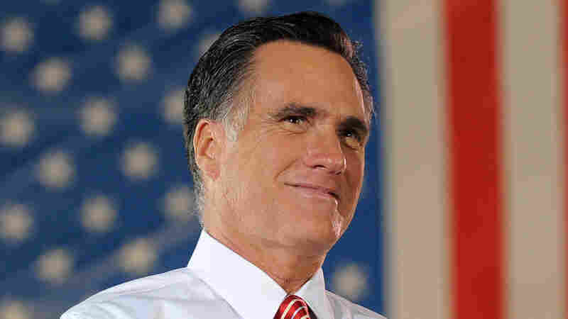 Republican presidential nominee Mitt Romney during an October 2012 campaign rally in Fishersville, Va.