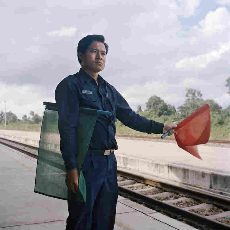 Kongthaly works at Thanaleng station, the first and only railway station in Laos. He received his training in Thailand, as the Laos station adopted its operating system from Thailand railway.
