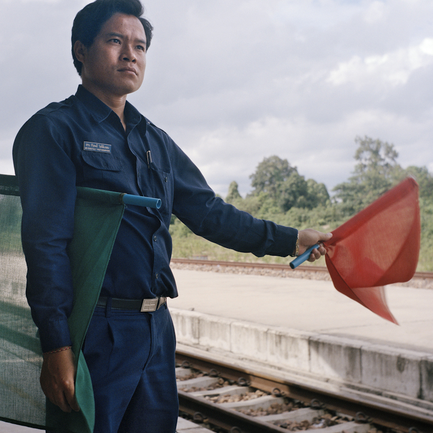 Kongthaly works at Thanaleng station, the first and only railway station in Laos. He received his training in Thailand, as the Laos station adopted their operating system from Thailand railway.
