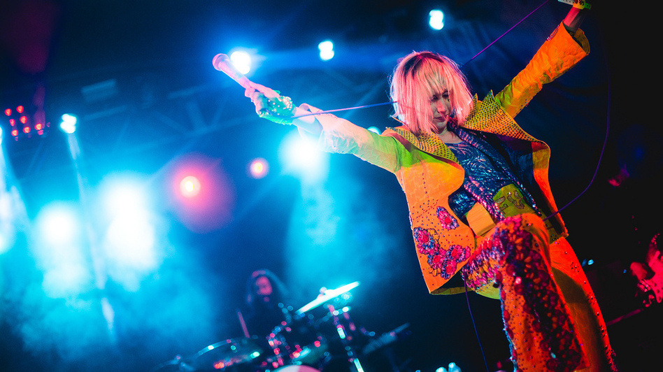 Karen O of Yeah Yeah Yeahs performs at NPR Music's 2013 SXSW Showcase at Stubb's.