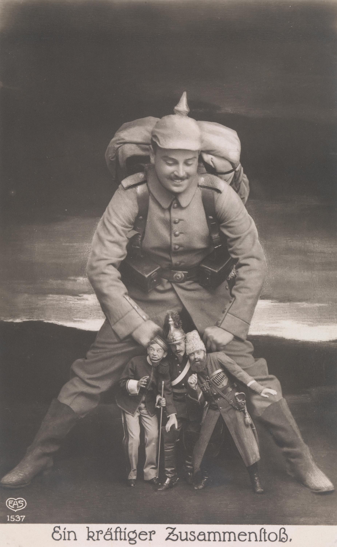 Ein kraftiger Zusammenstoss (A Powerfull Collision), 1914