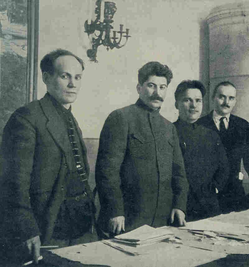 Nikolai Antipov, Joseph Stalin, Sergey Kirov and Nikolay Shvernik, 1926