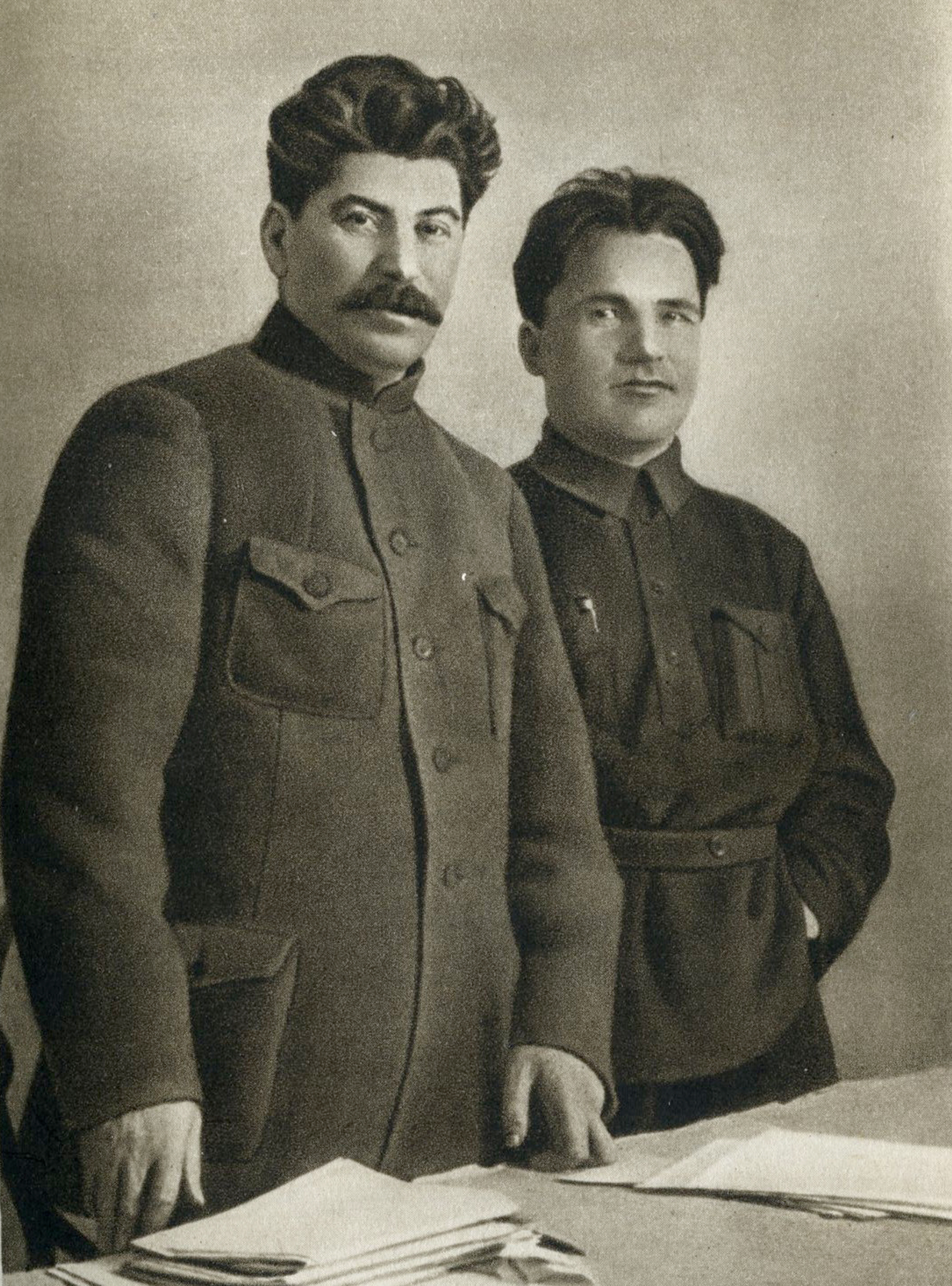 Joseph Stalin and Sergey Kirov, 1926, photogravure, published in Joseph Stalin: A Short Biography (Moscow, 1949)