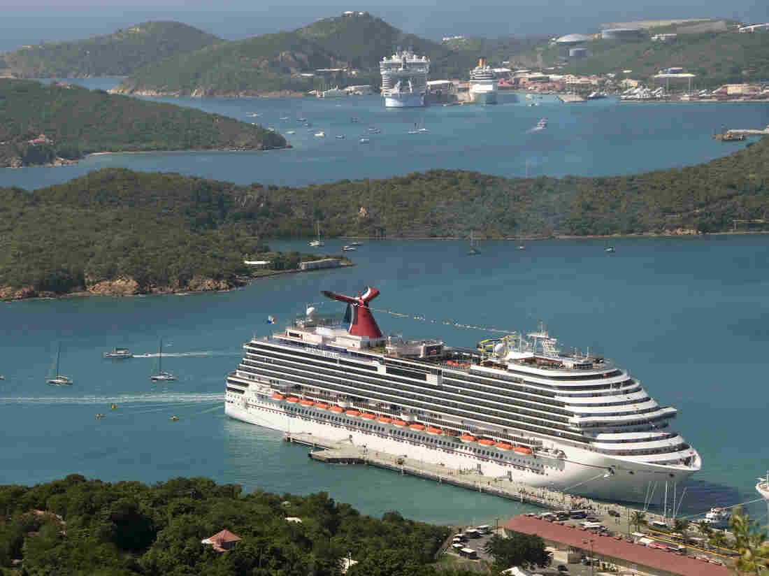 The Carnival Dream docked in St. Thomas, U.S. Virgin Islands, in Dece