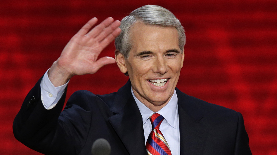 Sen. Rob Portman, R-Ohio, speaks at the Republican National Convention in Tampa, Fla., on Aug. 29, 2012.