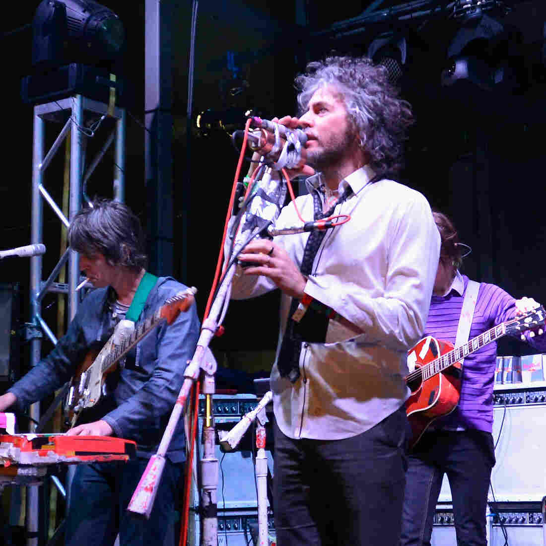 The Flaming Lips on stage at the Belmont in Austin, Texas. The band played its 2002 album, Yoshimi Battles the Pink Robots.
