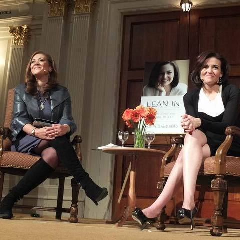 Michele Norris and Sheryl Sandberg in Washington, D.C.