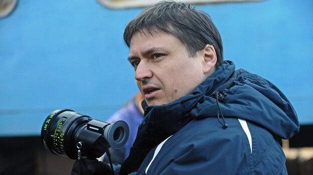 Director Cristian Mungiu on the set of his new film, Beyond t