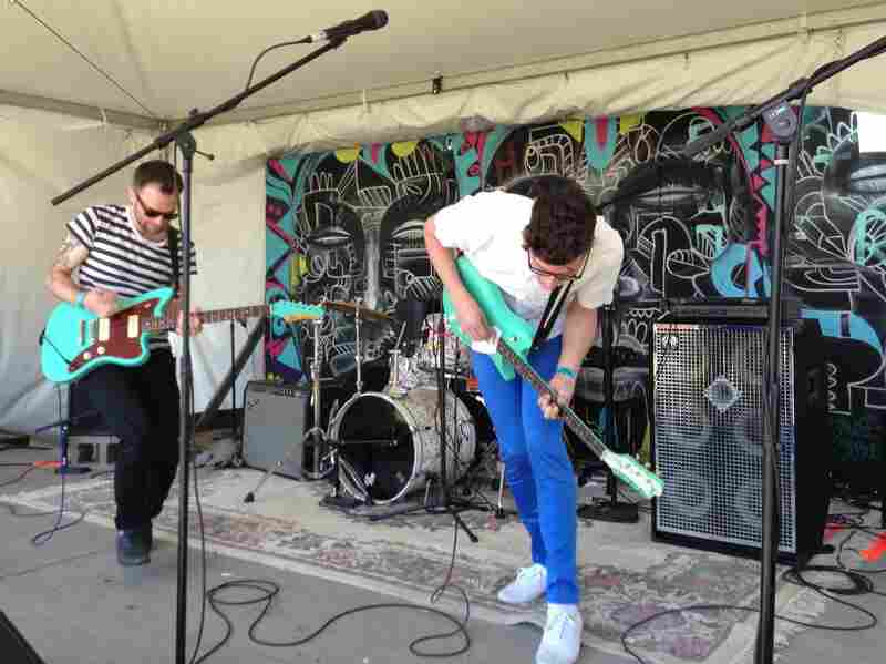 All Teal Everything: The Brooklyn band Conveyor play sunny-sounding pop.