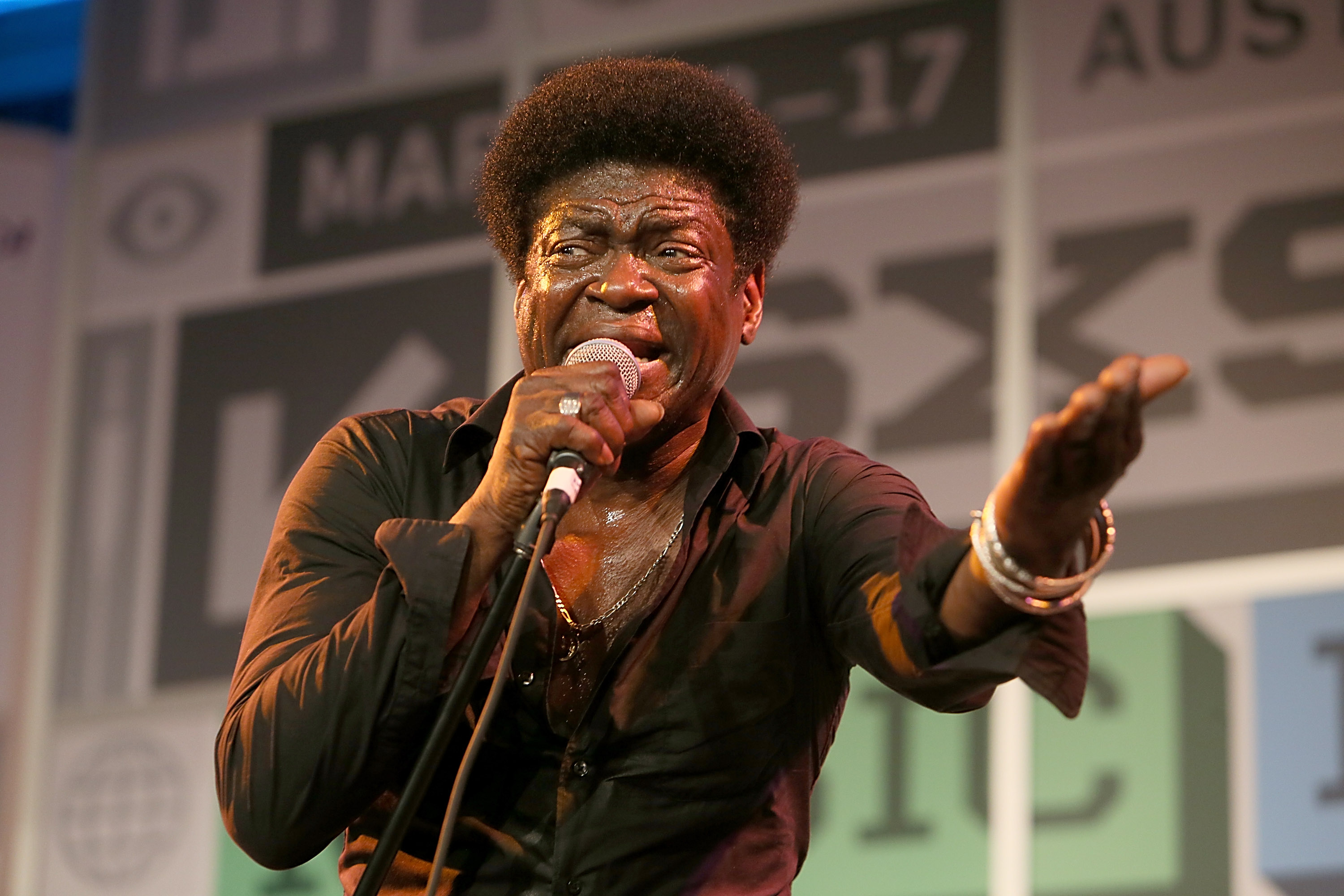 The Screaming Eagle of Soul, Charles Bradley, performs at the Public Radio Rocks showcase at the Austin Convention Center.