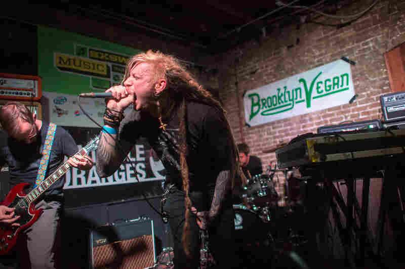 Batillus' concrete-slab-heavy doom metal levels The Junior for the Brooklyn Vegan Party.