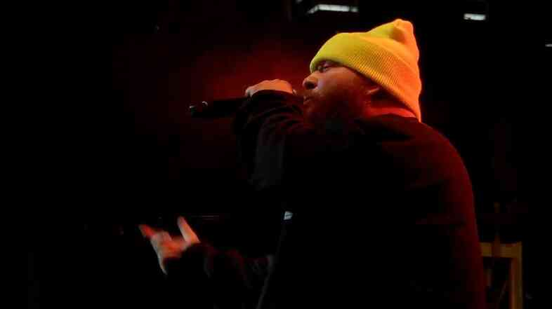 Action Bronson performs at a party presented by Warner Sound at the Belmont in Austi