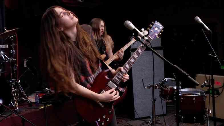 Haim performing at SXSW 2013