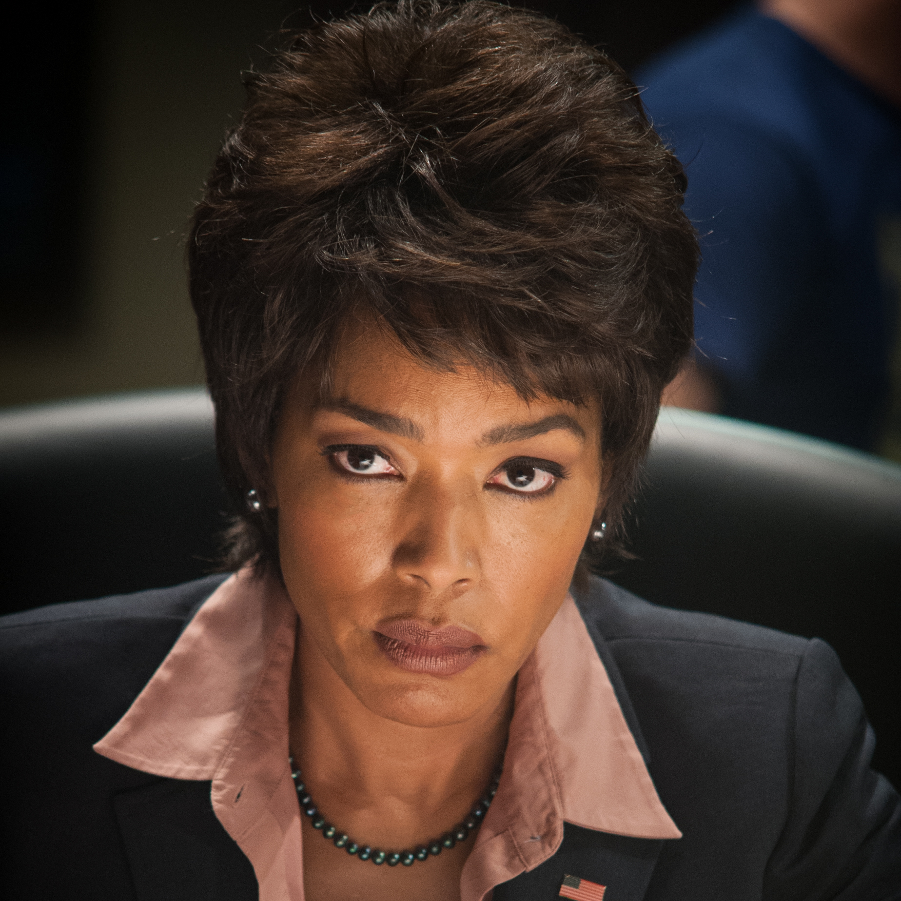 Angela Bassett as Secret Service Director Lynn Jacobs.