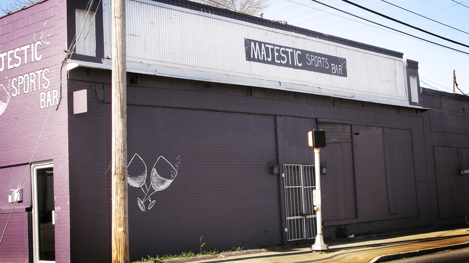 The Majestic Sports Bar in Columbus, Ga. Local residents say the club has been the site of violence for years. (NPR)