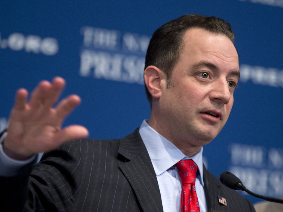 Republican National Committee Chairman Reince Priebus speaks at the National Press Club in Washington, D.C., on Monday. (AP)