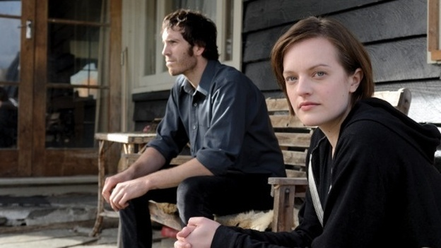 Elisabeth Moss (right) and Thomas Wright star in Jane Campion's new series Top of the Lake. (The Sundance Channel)