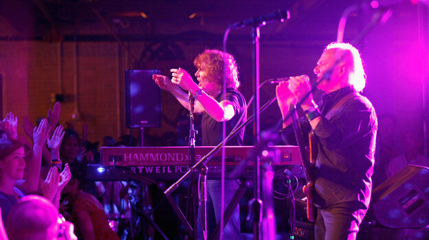 50 years after the band was founded, The Zombies still count as a discovery for many attendees of SXSW. Here, Rod Argent (left) and Jim Rodford play to a warm reception on the festival's final night at Brazos Hall in Austin, Texas.