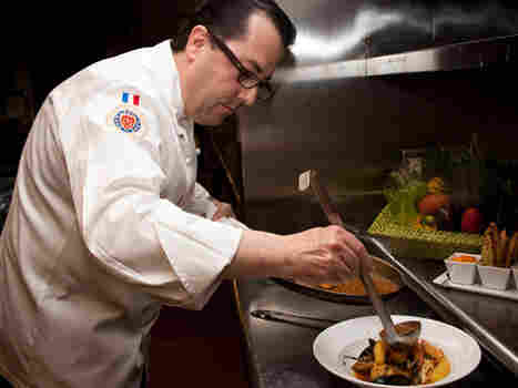Serge Devesa, executive chef at New York's InterContinental Barclay Hotel, prepares bouillabaisse, a specialty from his hometown of Marseille, France. Devesa was just named a master chef by the Maître Cuisiniers de France.