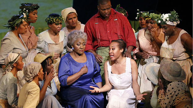 Mezzo-soprano Grace Bumbry (center) in a 2010 production of Scott Joplin's Treemonisha at the Châtelet Theater in Paris. (AFP/Getty Images)