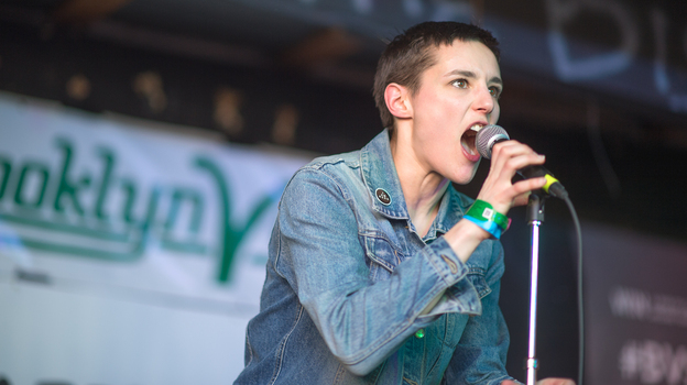 Savages singer Jehnny Beth at SXSW 2013.