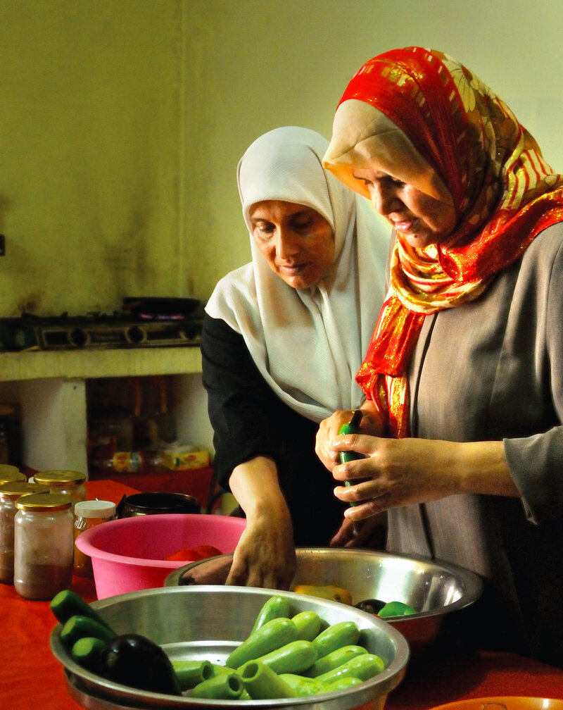 Members Of The Zeitun Women S Cooperative Prepare A Meal These Take Catering Orders For