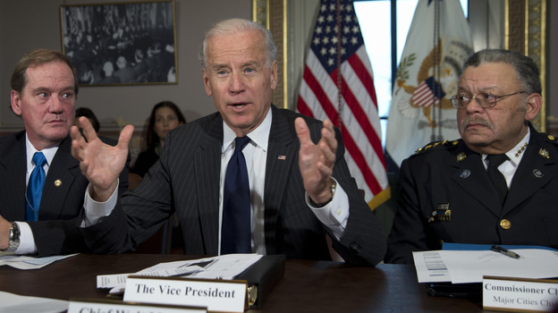 Vice President Biden at a December 2012 meeting of police chiefs on gun control, held in Washington, D.C. (AP)