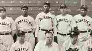 The only known photograph of the 1935 Bismarck town team.