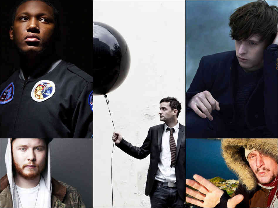 Clockwise from upper left: Joker, Bonobo, James Blake, DJ Koze, Julio Bashmore