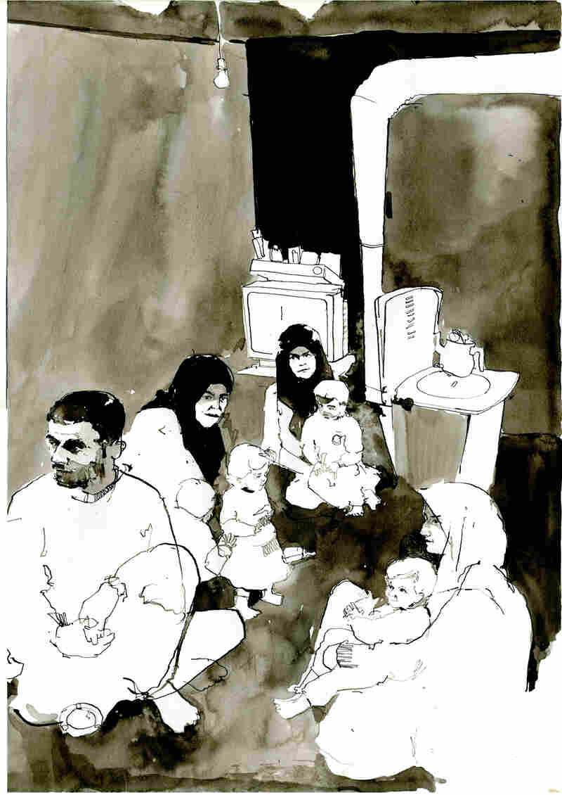 sketches from a war torn world a british illustrator in