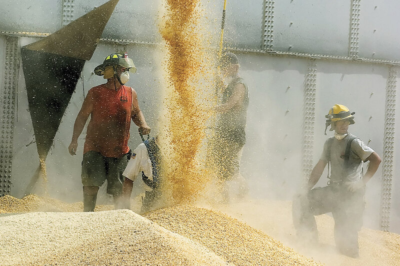 Fines Slashed In Grain Bin Entrapment Deaths : NPR