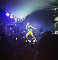 "NPR Music shared a photo from their own Saidah Blount on Instagram, taken during the Yeah Yeah Yeahs' performance at the NPR Music showcase: ""Karen ?#nprsxsw"""