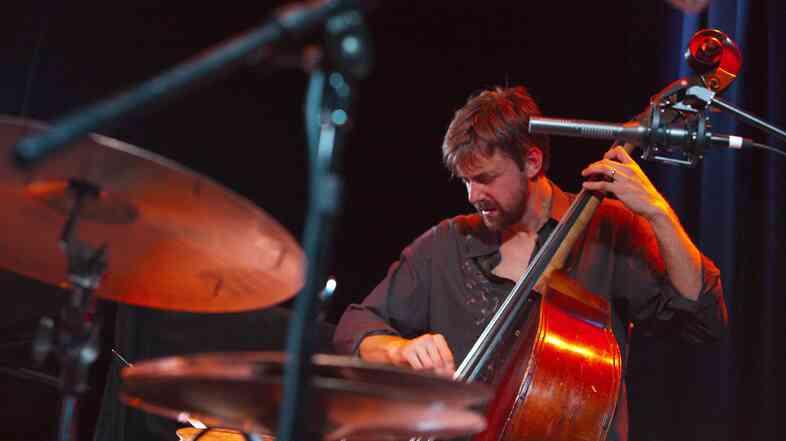 Chris Lightcap performs at the Kuumbwa Jazz Center.