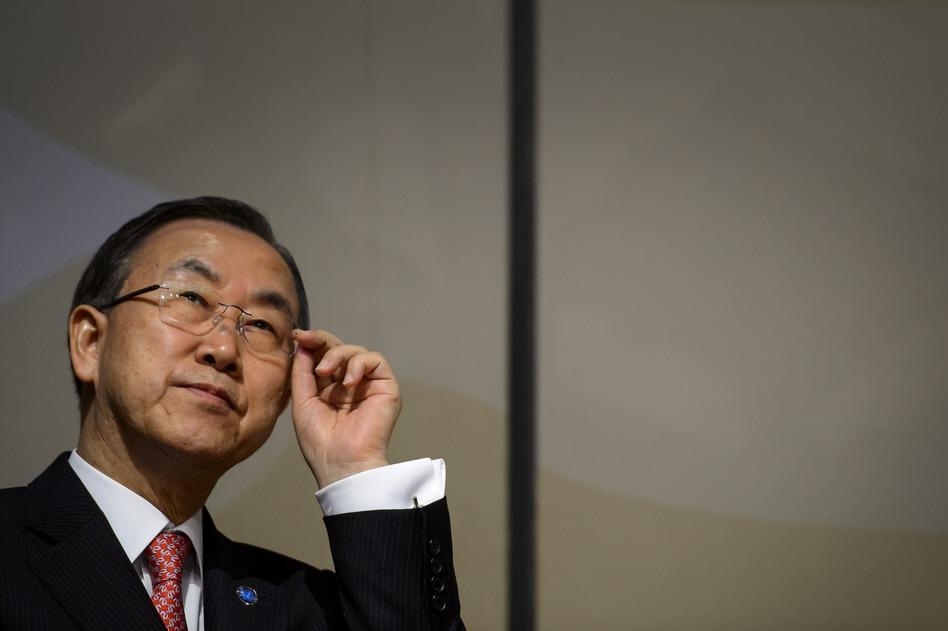U.N. Secretary-General Ban Ki-moon.