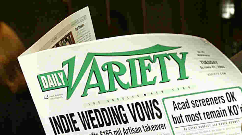 Print versions of Daily Variety, like this one from 2003, will no longer be available on L.A. newsstands. Variety will continue online and in a print weekly, but the daily print edition is being dropped.