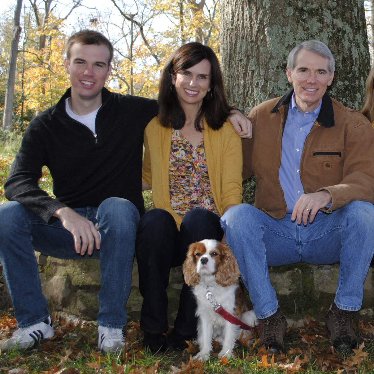 Sen. Rob Portman with his son Will and wife, Jane.