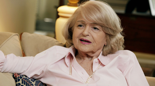 Edith Windsor in her New York City apartment in December 2012. Next week, the U.S. Supreme Court hears her challenge to the 1996 Defense of Marriage Act. (AP)