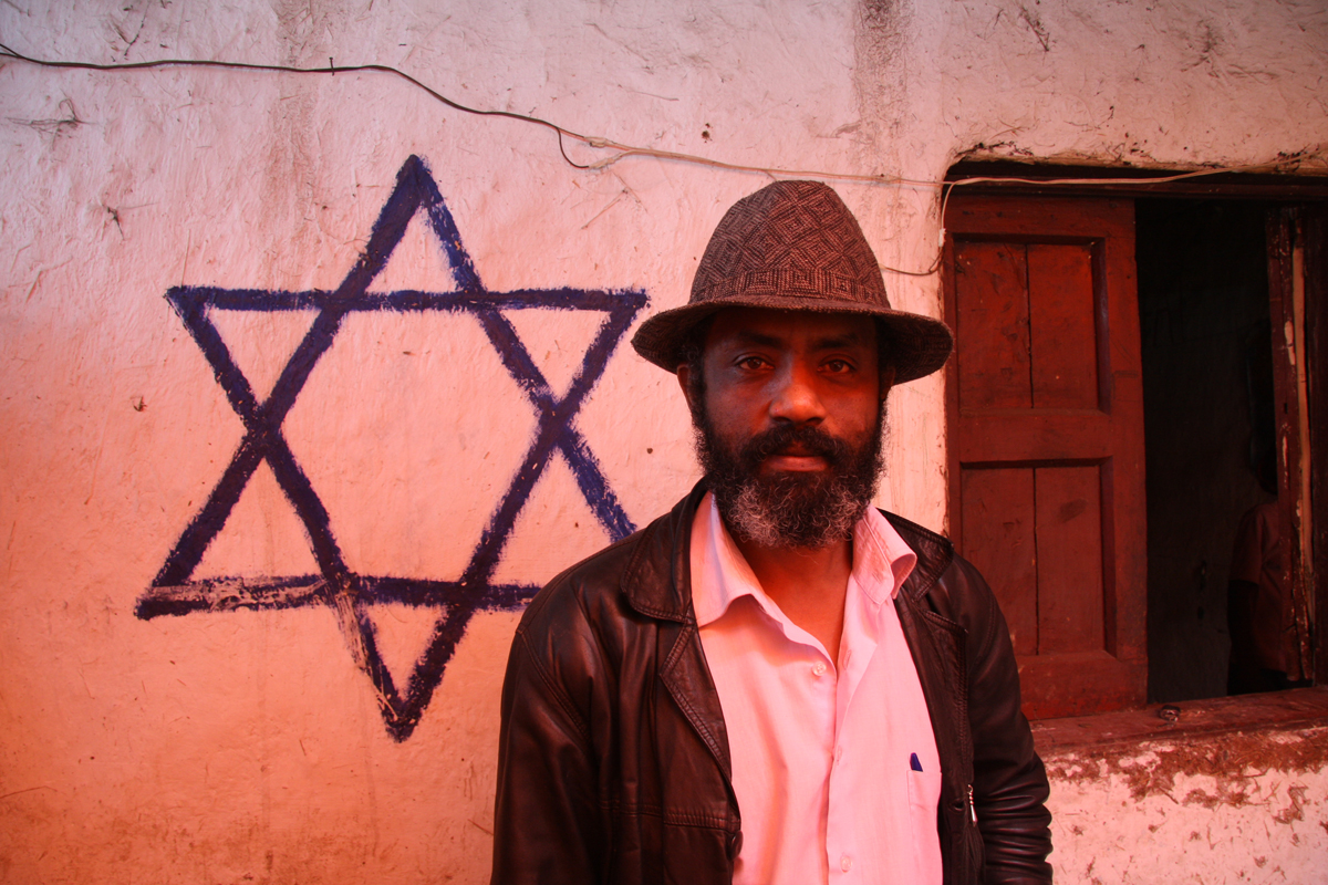 Man with Star of David in Addis Ababa, June 2011.