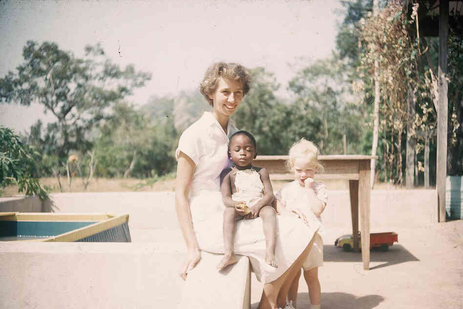 "Designer Senongo Akpem has built a website from his mother's photos called ""Lost Nigeria."" Images like this one document her early years as a California nurse living in Nigeria — where she stayed and married a Nigerian preacher. Later photos of their family vacations to the U.S. are a striking contrast."