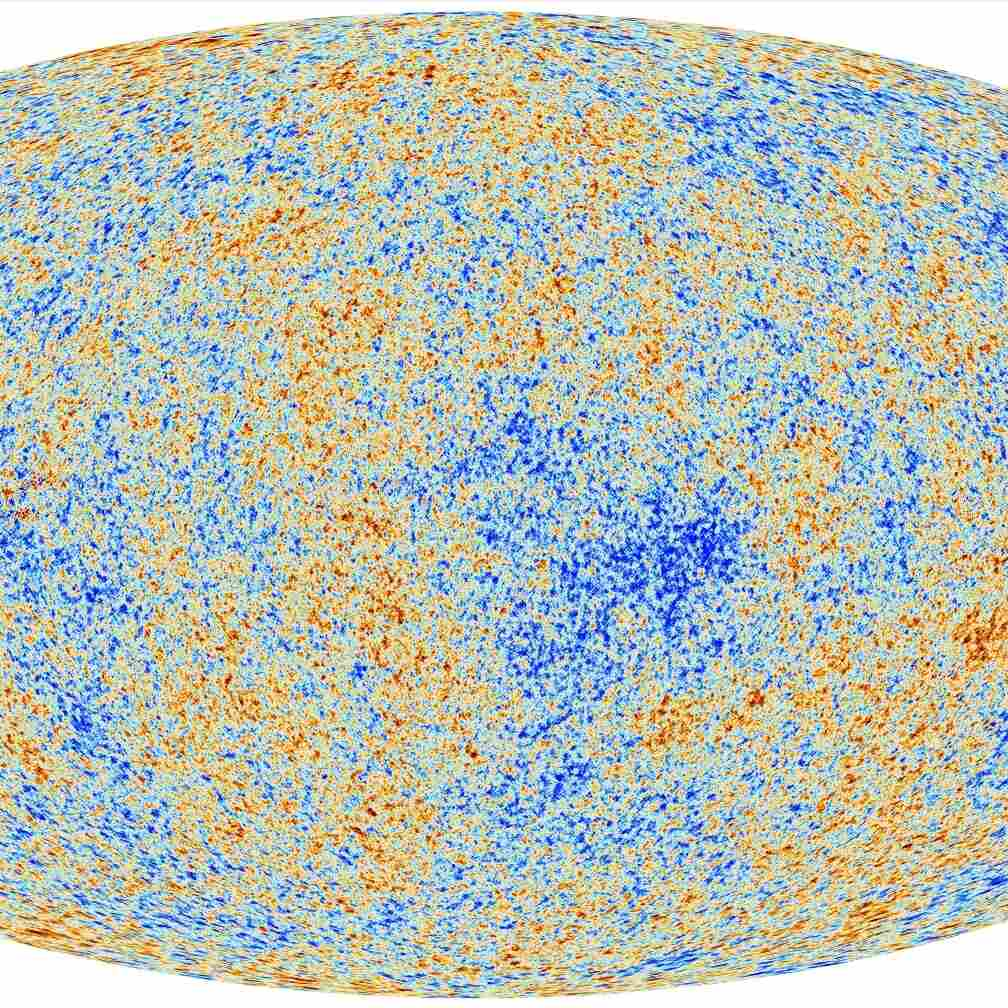 Planck's view of the Cosmic Microwave Background.
