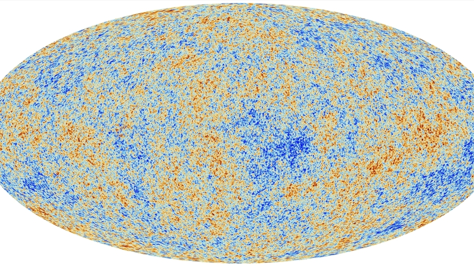 Planck's view of the Cosmic Microwave Background. (European Space Agency)
