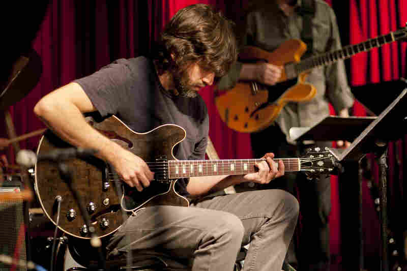 Jonathan Goldberger largely played rhythm guitar and pedal effects.