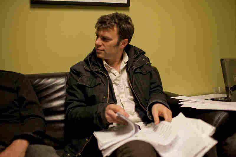 Todd Sickafoose, backstage.