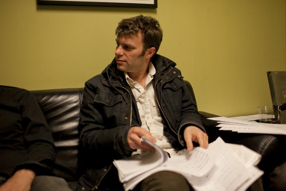 Todd Sickafoose, backstage. (johnrogersnyc.com)