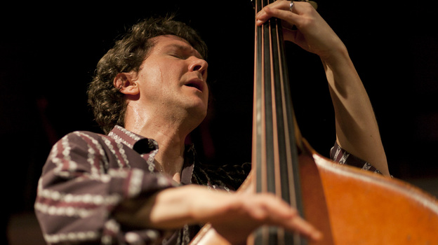 Stephan Crump performs at the 92Y Tribeca. (johnrogersnyc.com)