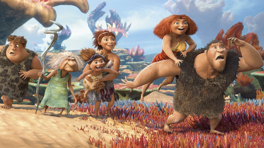 Caveman Jokes : Movie review 'the croods' you can give a neanerthal new colors
