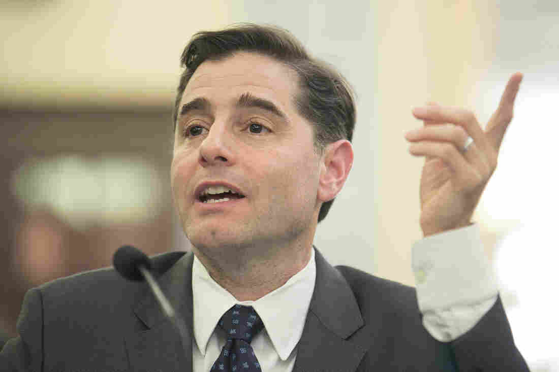 Federal Communications Commission Chairman Julius Genachowski testifies before a Senate committee in March of 2013.