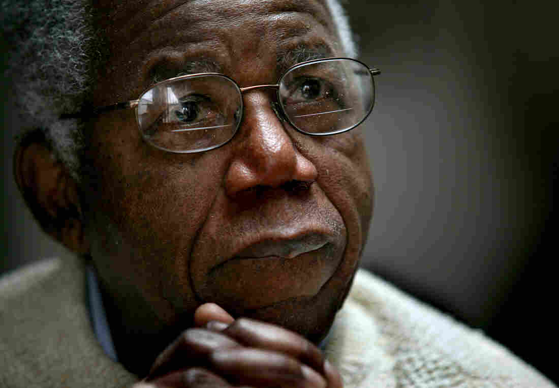 Chinua Achebe, Nigerian-born novelist and poet speaks about his works and his life at his home on the campus of Bard College in 2008.