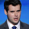 """Zach Wahls addresses the Democratic National Convention in Charlotte, N.C., on Sept. 6. A YouTube video of Wahls testifying in the Iowa Legislature went viral in 2011. He told lawmakers """"the sexual orientation of my parents has had zero effect on the content of my character."""""""